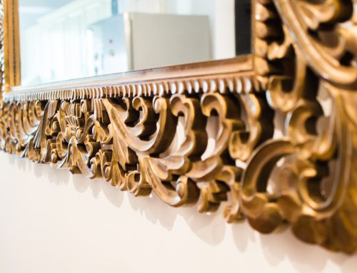 HMB Studio – Oglinda cu rama de lemn